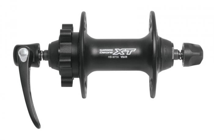 Butuc fata Shimano XT HB-M756 disc 32h, negru [0]