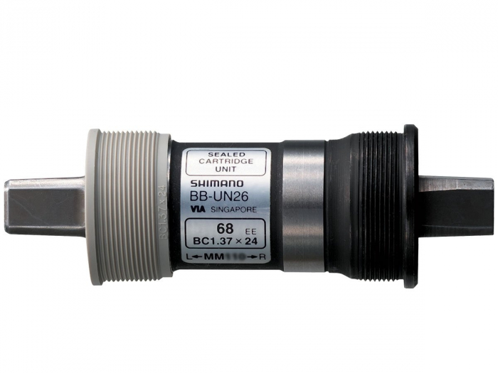 Butuc pedalier Shimano BB-UN26, ax patrat, filet Englezesc (BSA), cu suruburi, 68-122.5mm, vrac [1]
