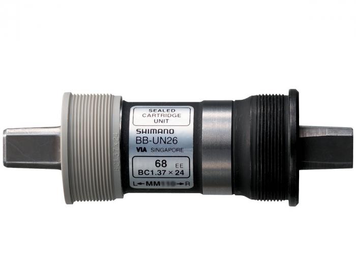 Butuc pedalier Shimano BB-UN26, ax patrat, filet englezesc (BSA), Fara Suruburi, 73-110mm [1]