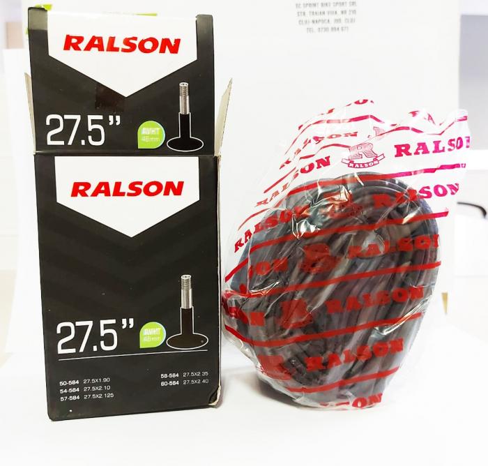 Camera bicicleta Ralson 27.5x1.75/2.25, valva Auto 48mm [3]