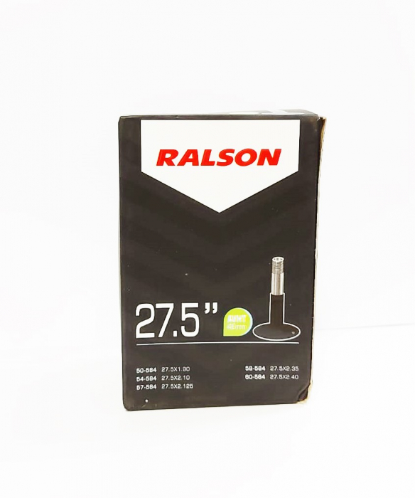 Camera bicicleta Ralson 27.5x1.75/2.25, valva Auto 48mm [0]
