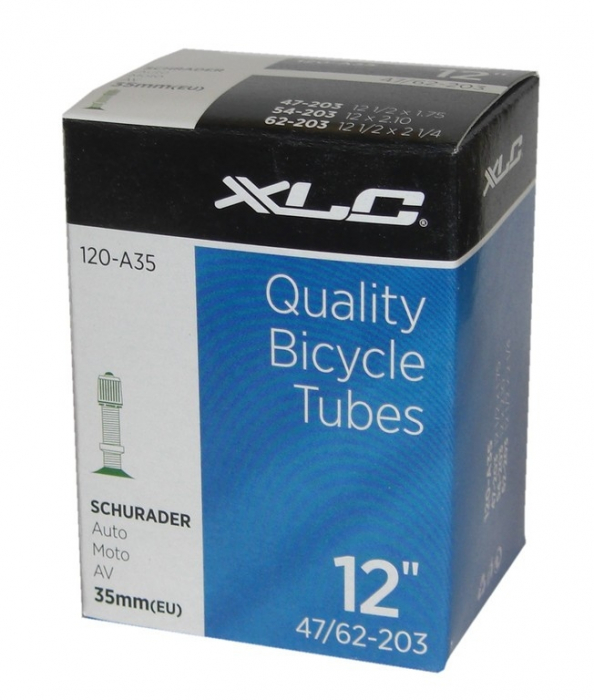 Camera bicicleta XLC 12x1.75-2.25, 47/62-203, AV 35mm [0]