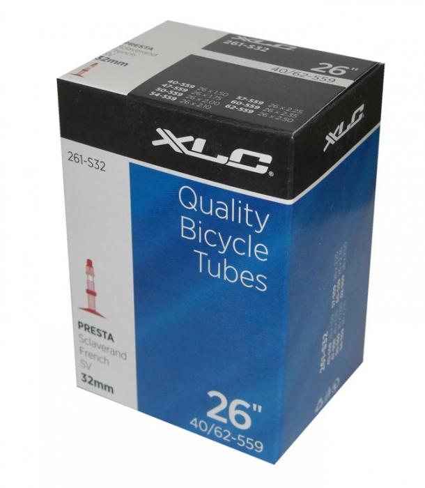 Camera bicicleta XLC 26x1.5/2.5, 40/62-559, SV 32mm [0]