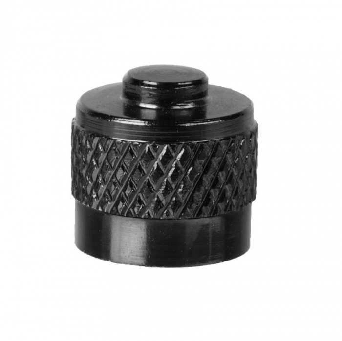 Capacel ventil auto M-Wave ALU, Negru anodizat [0]