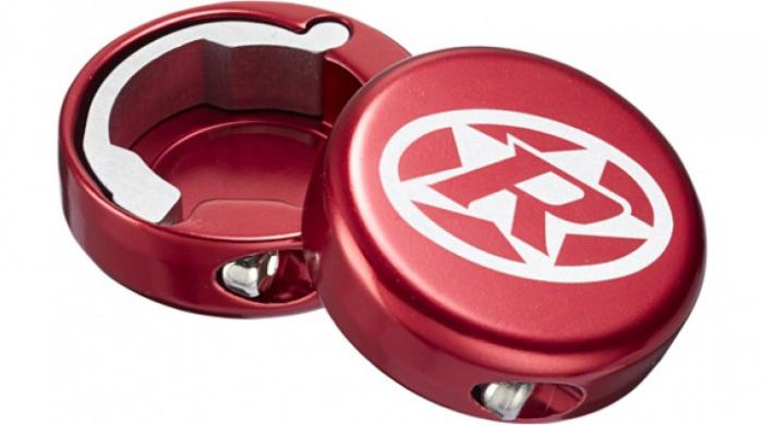 Capete ghidon Reverse lock-on aluminiu rosii [0]