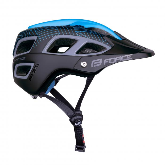 Casca Force Aves MTB E-bike, albastru/negru mat L/XL [3]
