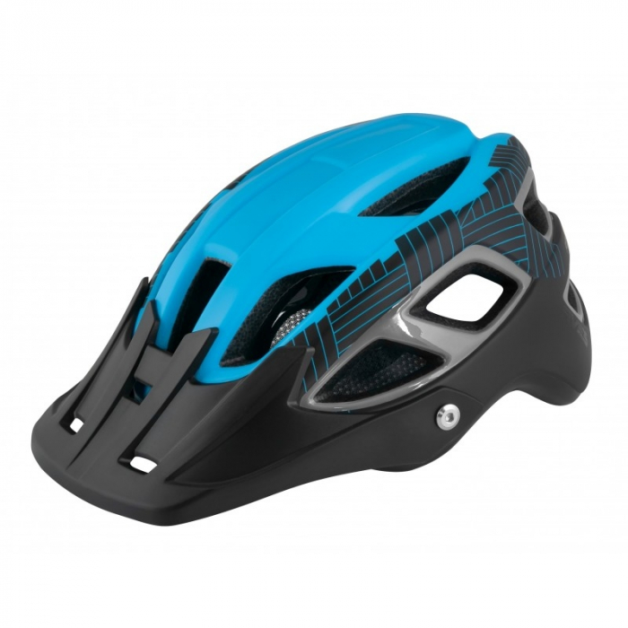 Casca Force Aves MTB E-bike, albastru/negru mat L/XL [0]