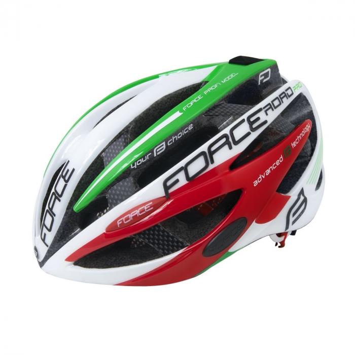 Casca Force Road PRO Italy, alb/verde/rosu, S/M (54-58cm) [0]
