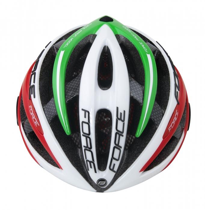 Casca Force Road PRO Italy, alb/verde/rosu, S/M (54-58cm) [1]