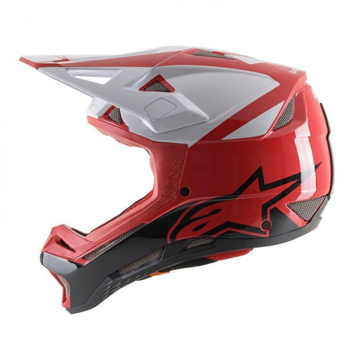 Casca fullface Alpinestars Missile PRO Cosmos red/white/glossy L [1]
