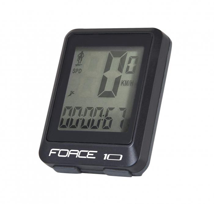 Ciclocomputer Force 10F cu fir negru [0]