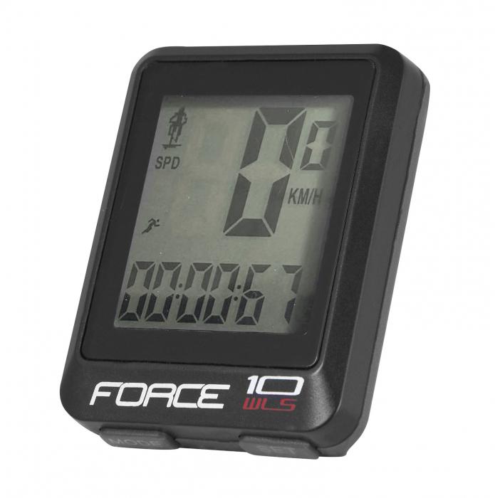Ciclocomputer Force WLS 10F fara fir negru [0]