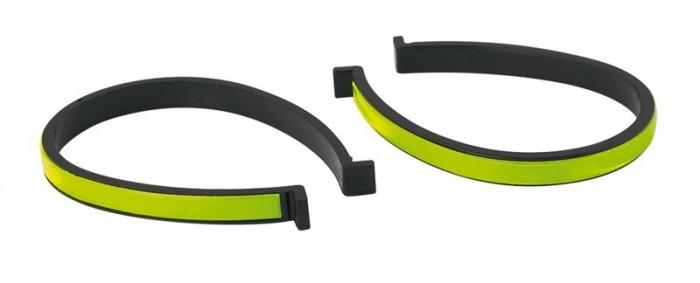 Clipsuri reflectorizante pentru pantaloni Force, din plastic, 2 bucati [0]