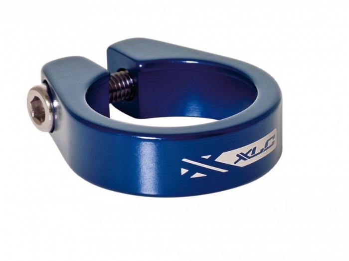 Colier tija sa XLC PC-B05, strangere cu imbus, 34.9mm Albastru [0]