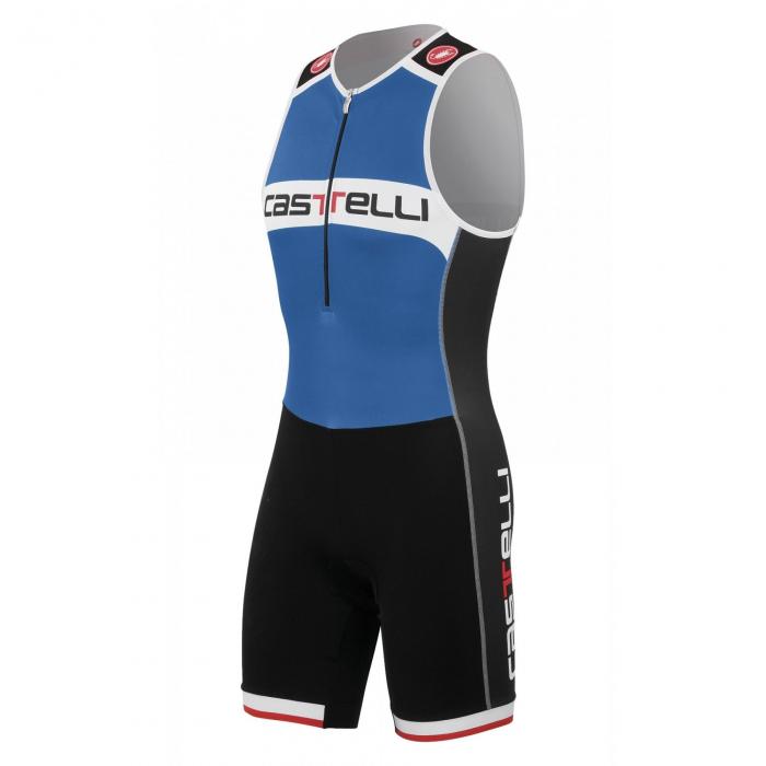 Costum de triatlon Castelli Core Tri Suit, Alb/Albastru/Negru, S [0]