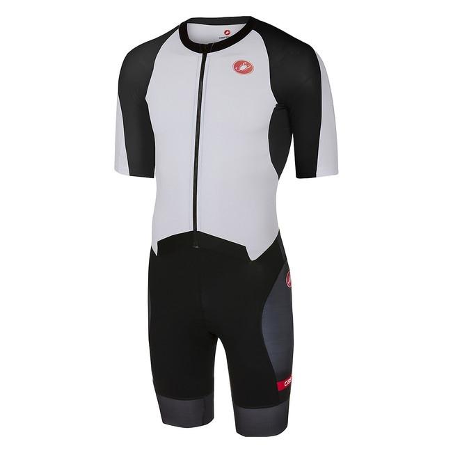 Costum de triatlon cu maneca scurta Castelli All Out Speed, Negru/Alb, M [0]