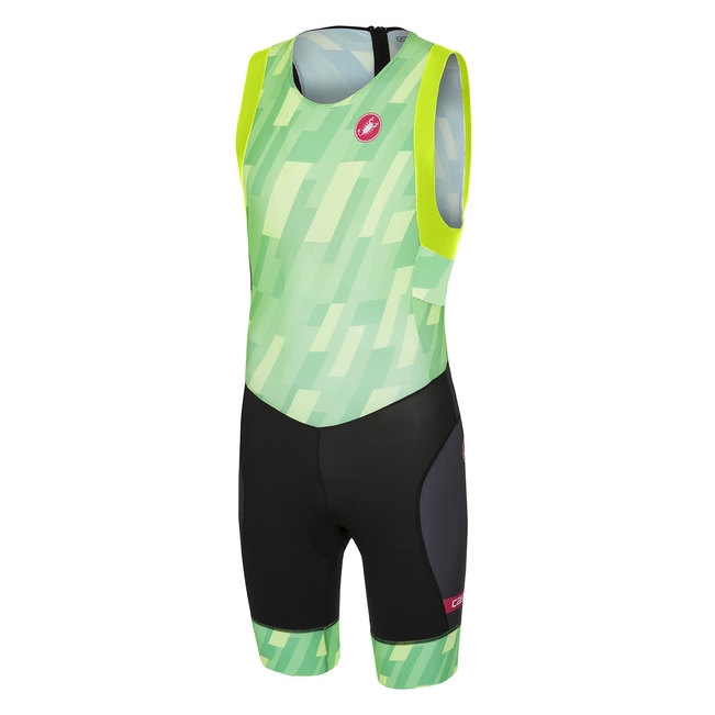 Costum triatlon Castelli Short Distance, Verde/Negru, XL [0]