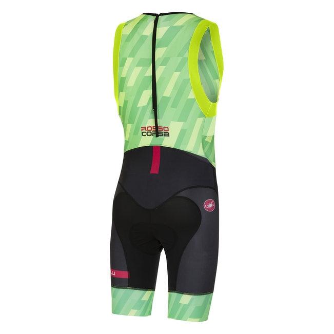 Costum triatlon Castelli Short Distance, Verde/Negru, XL [1]