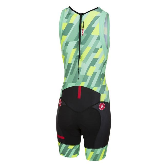 Costum Triatlon Castelli Short Distance W Suit, De Dama, Verde Mint/Galben Fluo/Negru, M [1]