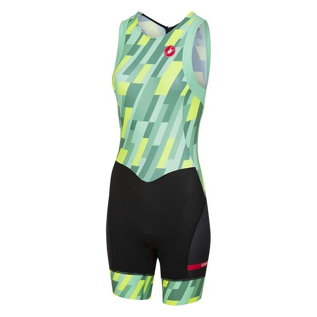 Costum Triatlon Castelli Short Distance W Suit, De Dama, Verde Mint/Galben Fluo/Negru, M [0]
