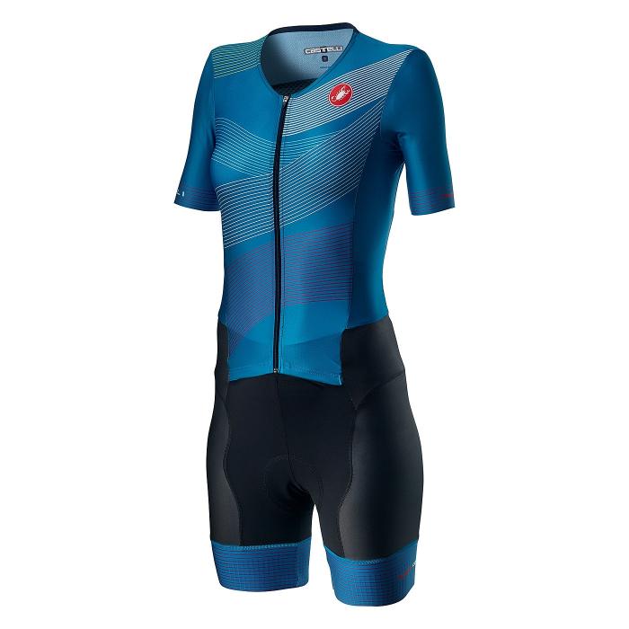 Costum Triatlon cu Maneca Scurta Castelli Free Sanremo 2 W Suit Multicolor Marine XS [0]