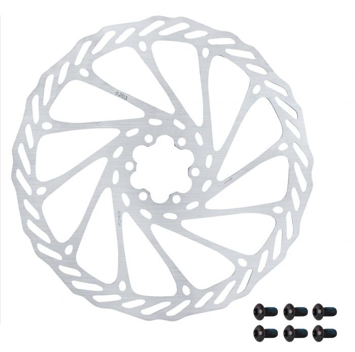 Disc frana Force-2 203mm 6 suruburi argintiu [0]