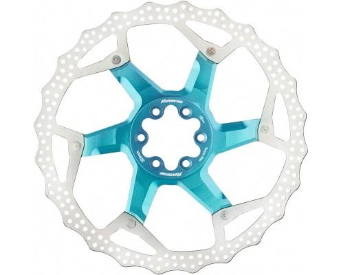 Disc frana Reverse Discrotor aluminiu/otel 203mm albastru deschis [0]