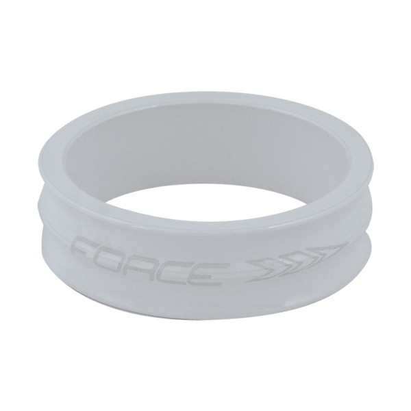 Distantier furca Force 1 1/8 10mm alb [0]