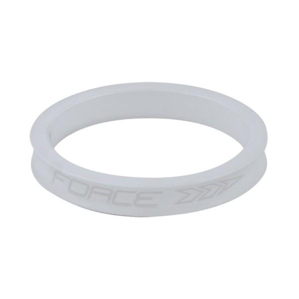 Distantier furca Force 1 1/8 5mm alb [0]