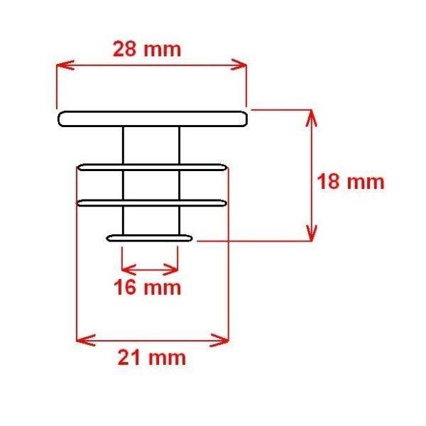 Dop ghidon Force PVC 20mm, Negru (1 bucata) [1]