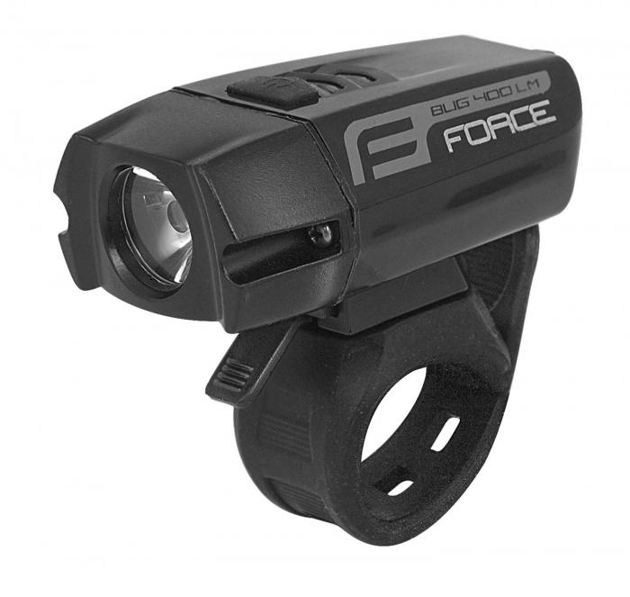 Lumina fata Force Bug USB 400Lm Negru [0]