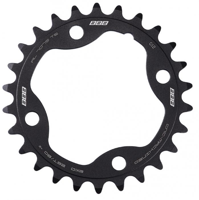 Foaie angrenaj pedalier BBB MTBGear comp. 2x10 Sram XX 26T/80 mm [0]