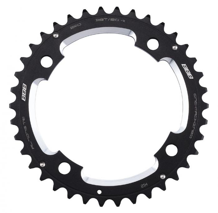 Foaie angrenaj pedalier BBB MTBGear comp. 2x10 Sram XX 38T/120 mm [0]