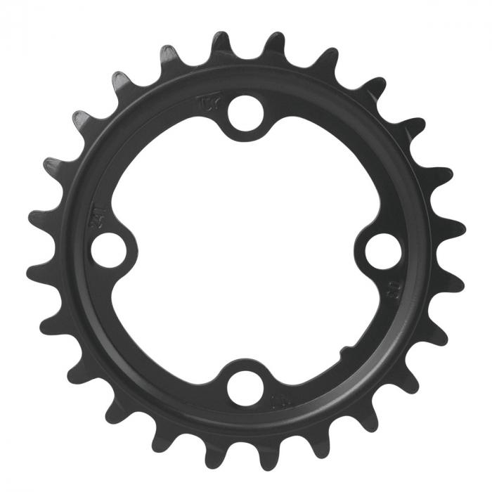 Foaie angrenaj pedalier Force 24T Cr-Mo neagra [0]