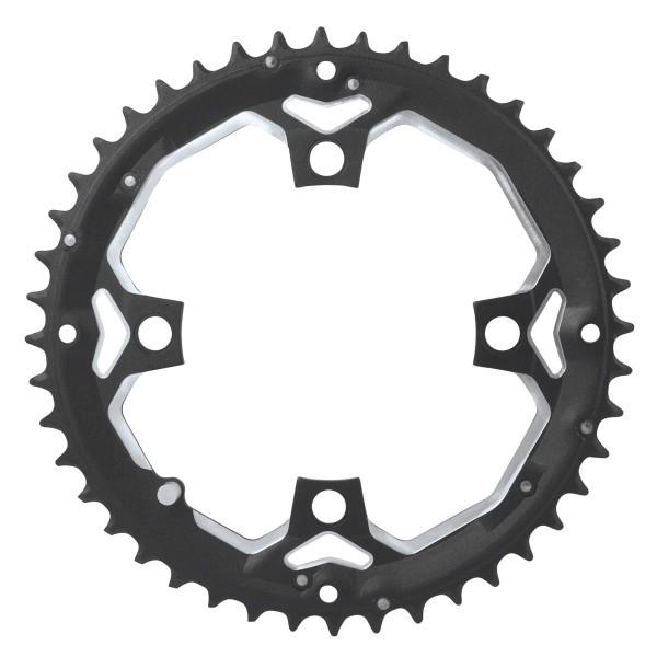 Foaie angrenaj pedalier Force 44 dinti aluminiu neagra [0]
