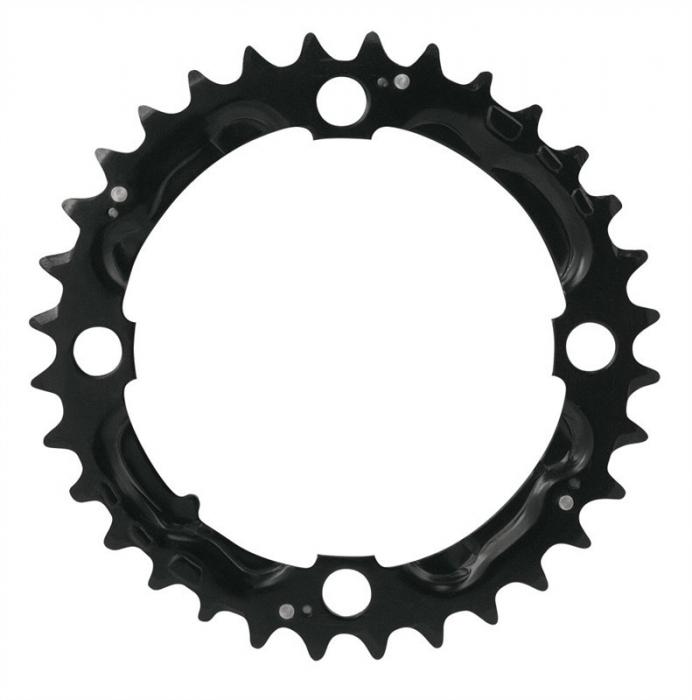 Foaie angrenaj pedalier Force Cr-Mo, 9 viteze, negru, 32T [0]