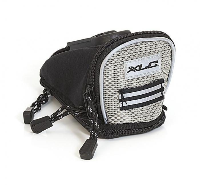 Borseta Sa XLC Saddle Bag Quick BA-S04, Negru/Argintiu, S [0]