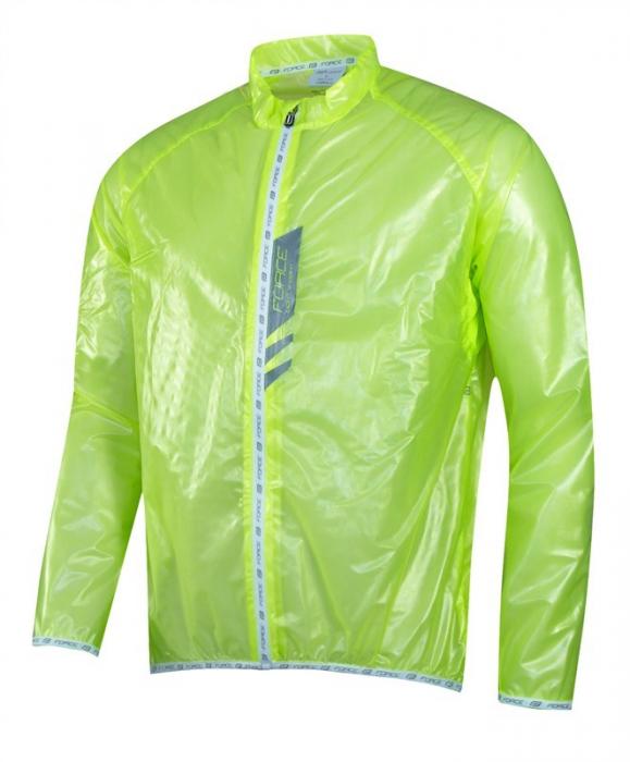 Jacheta Force Lightweight verde fluo SLIM L [2]
