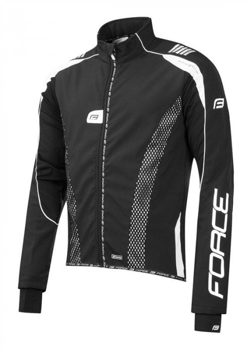 Jacheta Force X72 PRO Men softshell negru-alb XS [0]