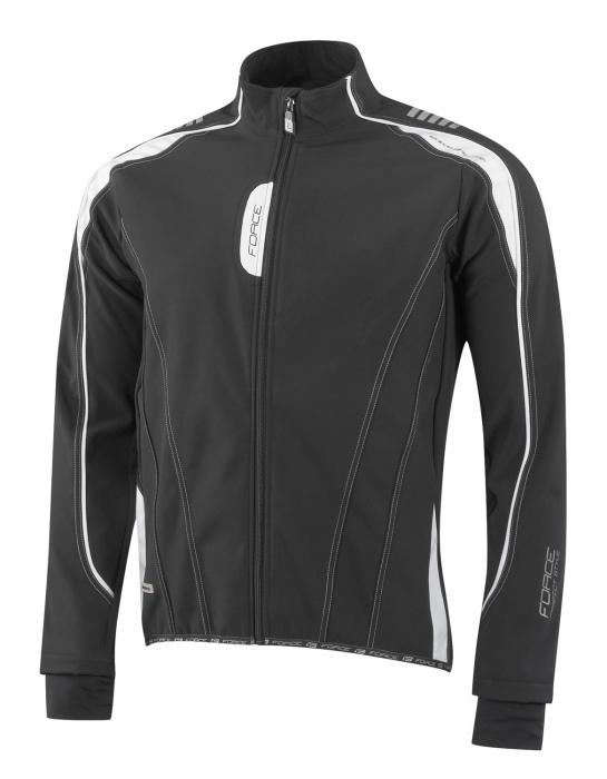 Jacheta Force X72 Men softshell negru-alb L [0]