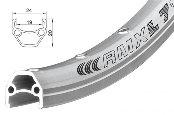 Janta dubla capsata Remerx Dragon L719 622x19 argintiu 36H [0]