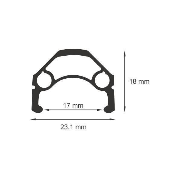 Janta dubla WTB DX17 V-Brake negru 32H 17-622 [1]