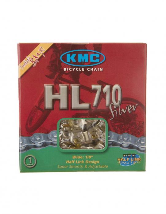 Lant half-link KMC HL-710 Silver, 1 viteza, 1/2'x1/8', 104L [1]