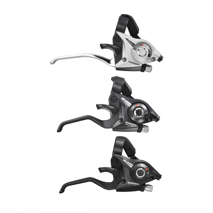 Maneta schimbator/frana Shimano Altus ST-EF51(Sl)4A stanga/fata/ 3 viteze argintiu [0]