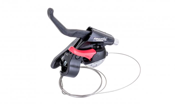 Maneta schimbator/frana Shimano Tourney ST-EF40-L stanga/fata negru 3 viteze neambalat [0]