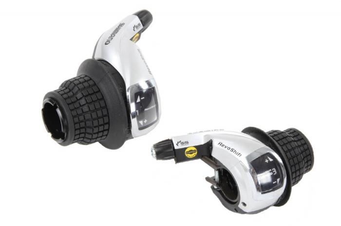 Manete schimbator Shimano Tourney SL-RS47, Revo-Shift, 3x8 viteze [0]