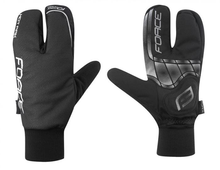 Manusi iarna Force Hot Rak 3 degete negre S [1]