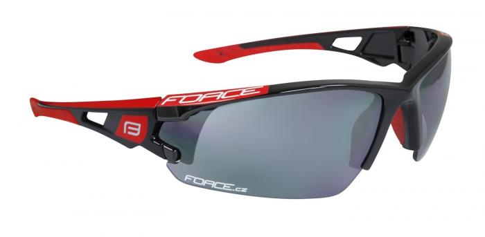 Ochelari Force Calibre negru rosu lentile black laser [0]