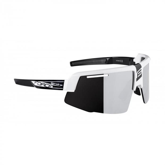 Ochelari Force Ignite, alb/negru, lentila neagra [1]