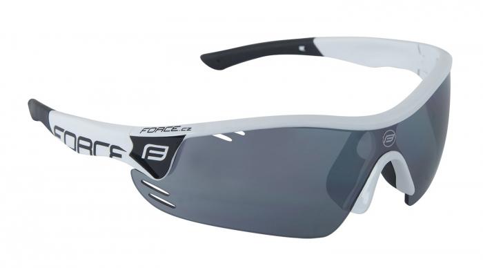 Ochelari Force Race Pro albi lentila negru laser [0]